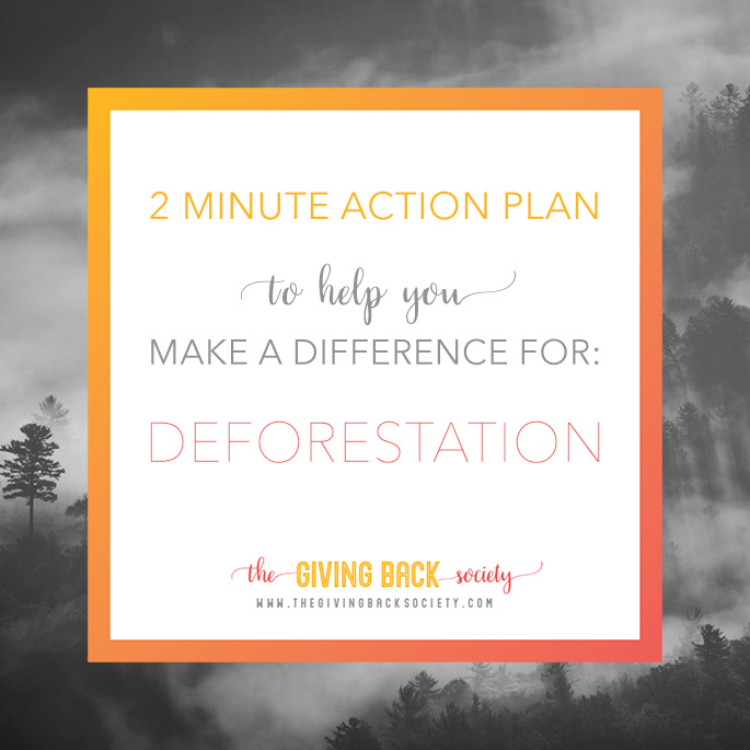 The Giving Back Society | Helping to End Deforestation