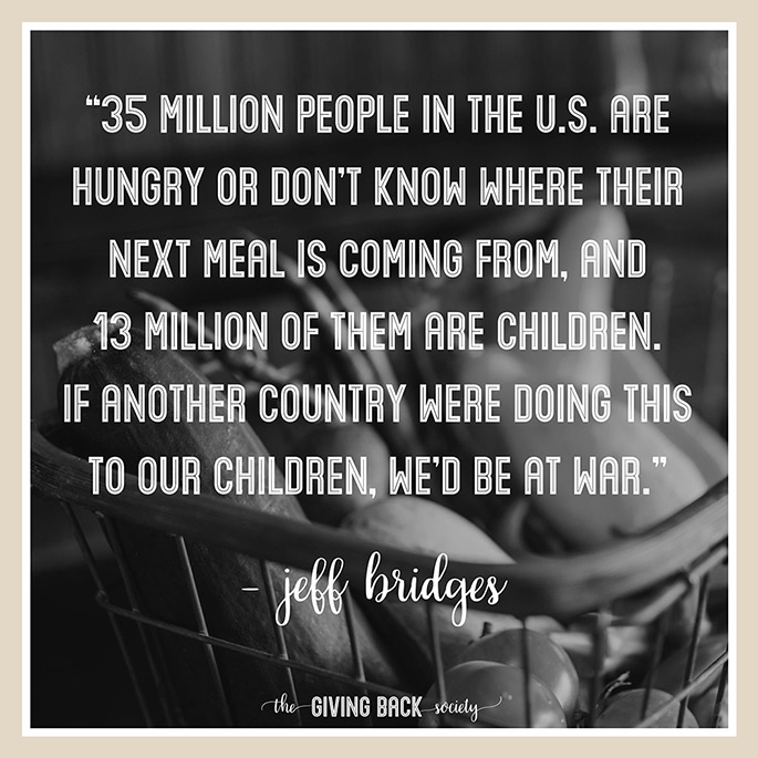 Jeff Bridges quote about hunger