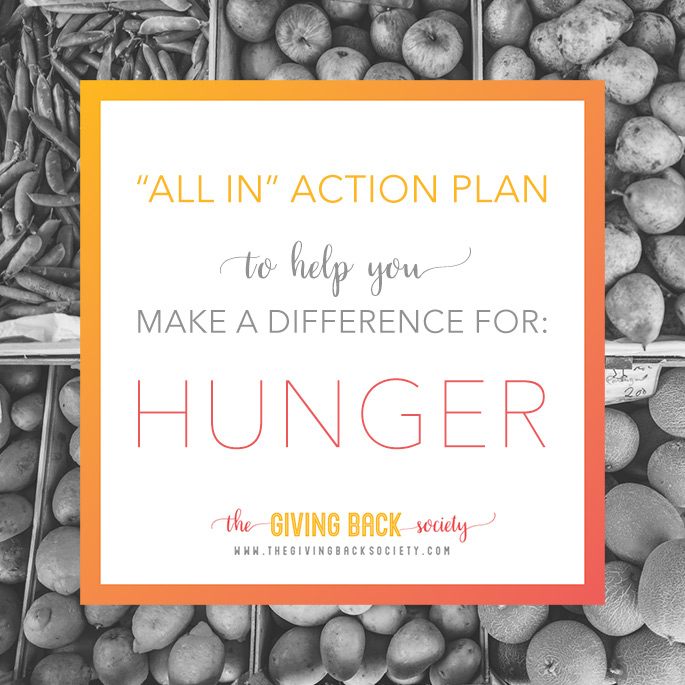The Giving Back Society is Helping to Prevent Hunger This Week