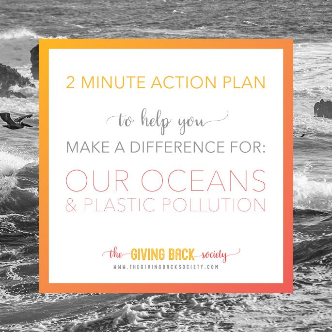 The Giving Back Society is Helping to Prevent Plastic Pollution in our Oceans