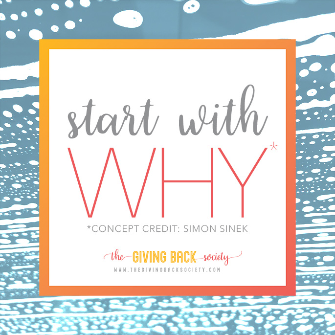 Start with Why When Volunteering | Simon Sinek | The Giving Back Society