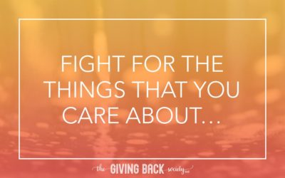 FIGHT FOR THE THINGS THAT YOU CARE ABOUT…