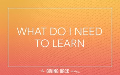 WHAT DO I NEED TO LEARN