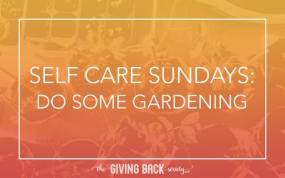 SELF CARE SUNDAYS: DO SOME GARDENING