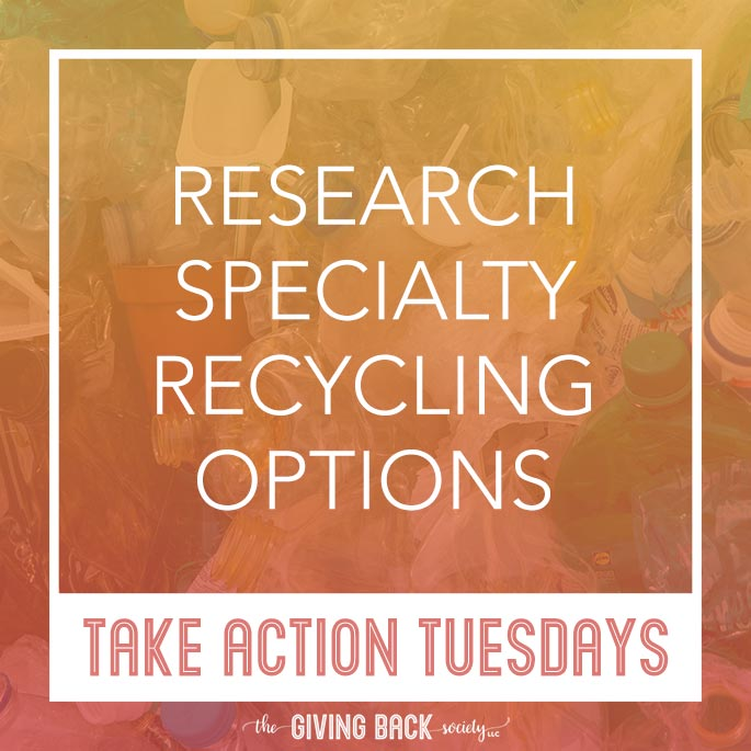 Research specialty recycling options